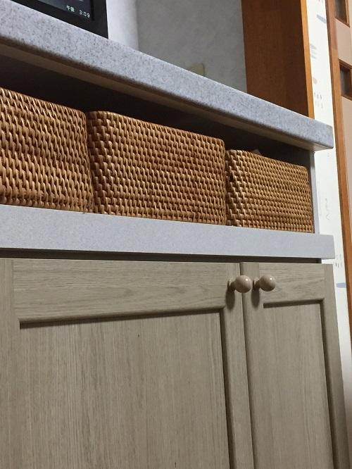 棚と引き戸の間をうまく収める空間!