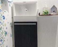 手洗いカウンター収納
